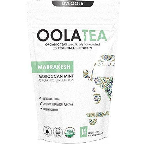 Cheap Oola Tea – MARRAKESH (Moroccan Mint) 14 Count | Certified Organic Green Tea | Antioxidant Boost | Aids in Digestion