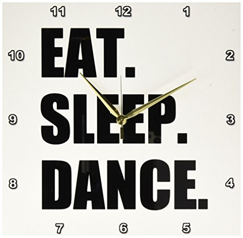3dRose dpp_180394_2 Eat Sleep Dance Passionate About Dancing Fun Text Dancer Gifts Wall Clock, 13 x 13'' by 3dRose