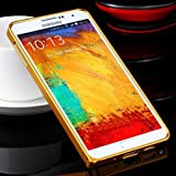 Note 3 Case Luxury Gold Slim Ex Linear Metal Case For Samsung Galaxy Note 3 Iii N9000 N7200 Accessories Protective Frame Cover Gold-Gold