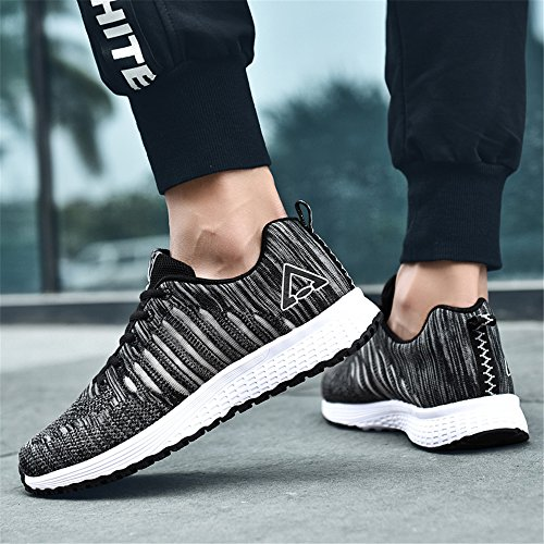 Gym Mens Jogging Lightweight Breathable AIRAVATA Sport Black Casual Shoes 8026 Fitness Comfort Knit Trainers Athletic RqCwxvp