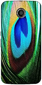 Snoogg Peacock Feather Closeup Designer Protective Back Case Cover For Google...