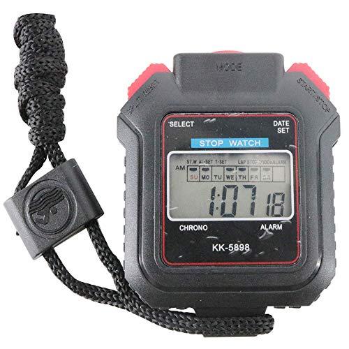 - Graigar KK-5898 Digital Handheld Mini Pocket Stop Watch Stopwatch Timer Sport Alarm