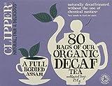 organic british tea - Clipper Teas - 80 Unbleached Bags of Organic Decaf Tea - 250g