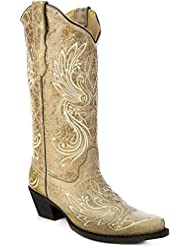 CORRAL Womens All Over Embroidered Cowgirl Boot Snip Toe - E1035