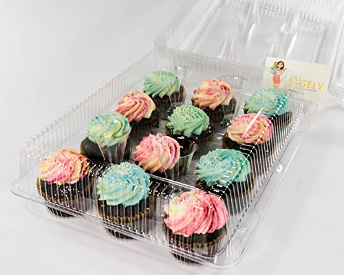 Katgely 12 Cavity Cupcake Container To Carry Cupcakes (Pack of 12)