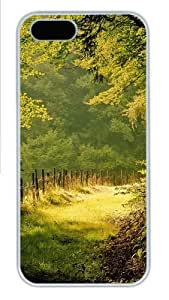 iPhone 5S Cases & Covers - Summer day in the forest Custom PC Hard Case Cover for iPhone 5/5S ¿C White