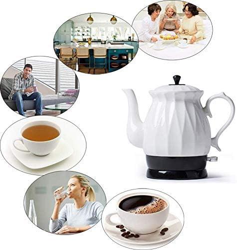 Leilims Bouilloires en céramique Bouilloire électrique sans Fil Eau Teapot, Teapot-rétro 1.7L Jug Rapide