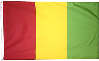 product image for Annin Flagmakers Model 193233 Guinea Flag 3x5 ft. Nylon SolarGuard Nyl-Glo 100% Made in USA to Official United Nations Design Specifications.