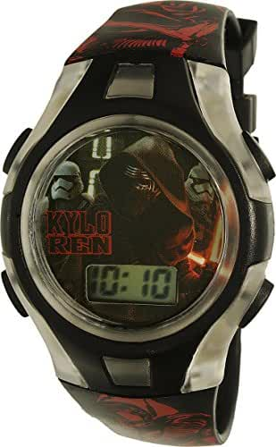 Star Wars Kylo Ren Flashing Lights LCD Watch - Black and Red Band