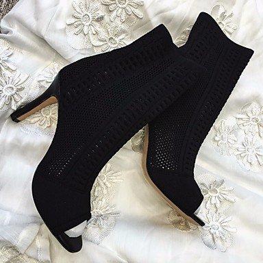 Botas de mujer primavera PU Confort Casual negro de almendra Almond