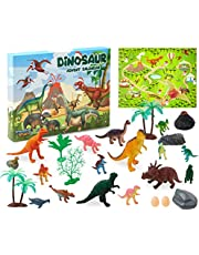 KreativeKraft Adventskalender 2020, Adventskalender Dino, Leuke Kerst Kalender met Dinosaurus Speelfiguren, Advent Kalender Kinder met Dino Speelgoed