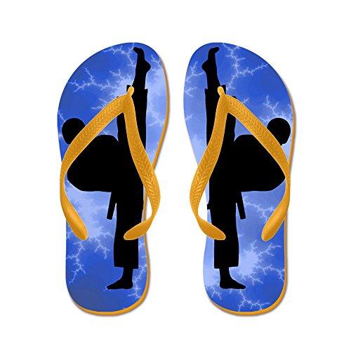 Cafepress Karate Boy Kickers - Chanclas, Sandalias Thong Divertidas, Sandalias De Playa Naranja