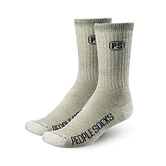2 pairs Mens Below Zero Merino Wool Calf Socks (Green Heather)
