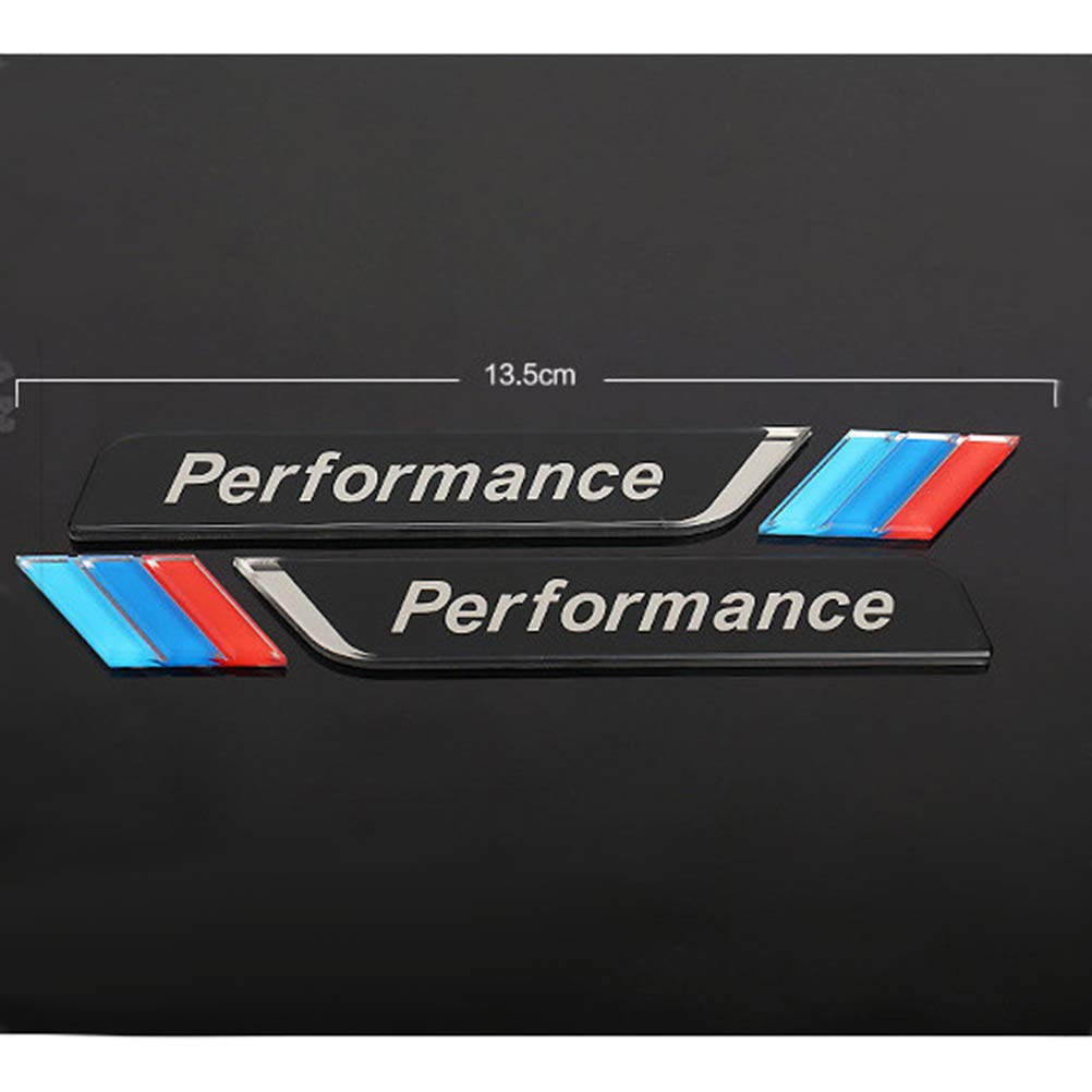 Negro Vosarea Calcoman/ía de Placa de Placa de Placa de Placa de Placa de Escudo de Fender troncal Lateral para BMW M