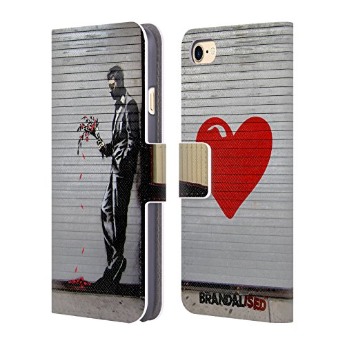 Official Brandalised The Hustler Banksy Art Street Tags Leather Book Wallet Case Cover for iPhone 7 / iPhone 8