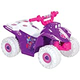 My Little Pony 6 Volt Battery Powered Girls Quad Ride with Contoured Comfort Seat, Purple/White