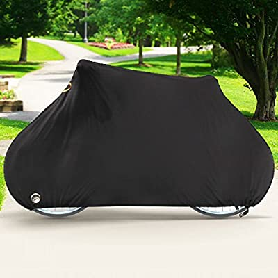 NEH Deluxe Single Bike Cover Waterproof Outdoor Travel Storage Cover for 1x Bicycle