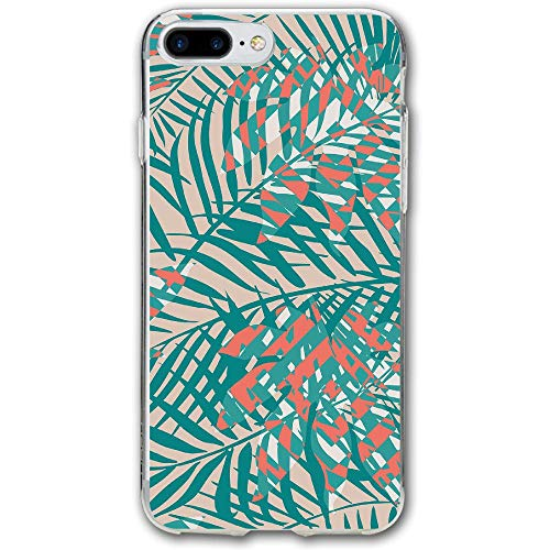 (Green Leaves Resistant Cover Case Compatible iPhone 7 Plus iPhone 6 Plus)
