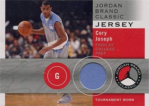 (Cory Joseph player worn jersey patch basketball card (Findlay College Prep, Texas Longhorns) 2011 Upper Deck Rookie #JBCCJ)
