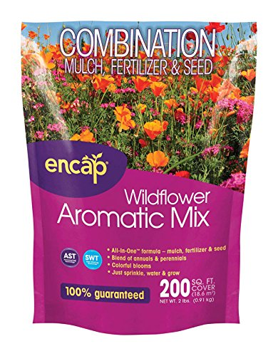 (ENCAP 681636108126 Wildflower Aromatic Mix Combination Mulch, Fertilizer & Seed)