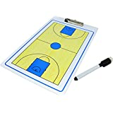 Heymei Basketball Coaches Acrylic Tactical Board with Paint Marker & Marker Rag
