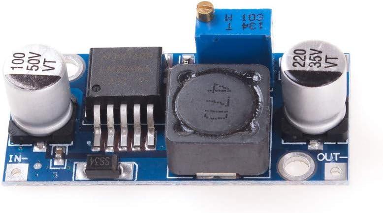 AngeEK LM2596S Lot de 5 modules dalimentation DC Tension Tension Tension Tension DC 3,2-40 V 1,25-35 V Pour Arduino