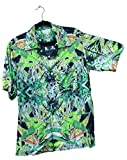 Hawaiian Shirts Mens Rayon Aloha Party Holiday Blueberry- XXL