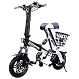 MEIYATU E-Bike – Folding Electric Bicycle with 15-18 Miles Range, E-Bike Scooter 250W Powerful Motor Collapsible Frame 36V …