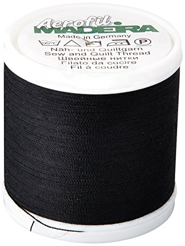 (Madeira 9125-8000 2 Ply Aerofil Polyester Sewing & Quilting Thread, 120wt/440 yd)