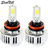 Starnill LED Headlight Conversion Kit - All Bulb Sizes - 72W 6600LM COB LED - Replaces Halogen & HID Bulbs (H11)