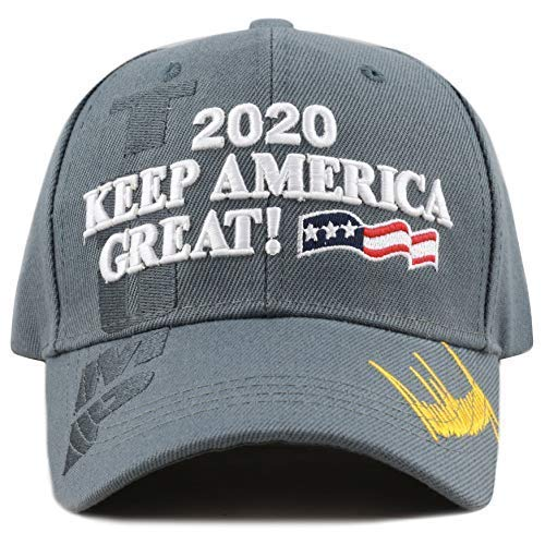 The Hat Depot Exclusive 45th President Trump Make America Great Again 3D Cap (2020Trump-Dark Grey)