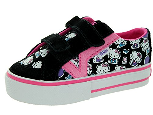 Vans Toddlers Tory V (Hello Kitty) Blk/Pnk/Wht Skate Shoe 5.5 Infants US