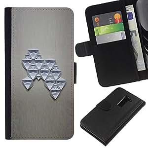 KLONGSHOP // Tirón de la caja Cartera de cuero con ranuras para tarjetas - Estructura del arte abstracto de la figura - LG G2 D800 //
