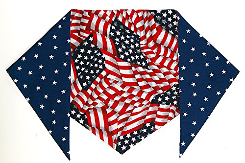 Patriotic Bandana for Dogs (L) Ties on 14