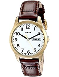 Timex Men's T2N065 Elevated Classics Gold-Tone Watch with...