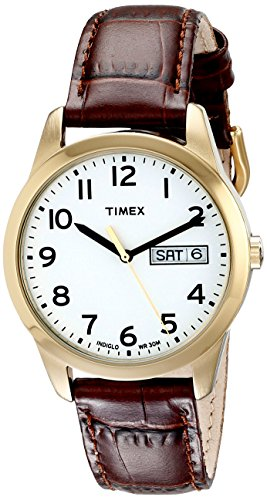 Timex Men's T2N065 South Street Sport Brown Croco Pattern Leather Strap Watch