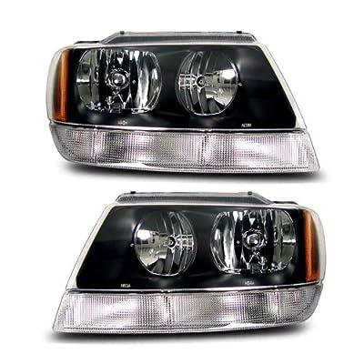 SPPC Cherokee Crystal Headlights Black For Jeep Grand - (Pair)