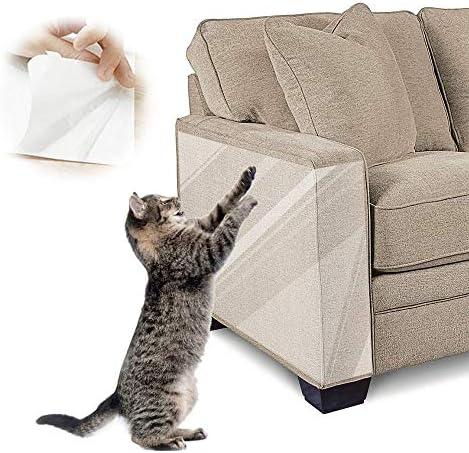 BOW CALICO Pet Scratch Protector Dubbelzijdige Cat Meubelbeschermer Anti Cat Scratch Pads Cat Training Sticky Strips voor Bank Tapijt Deuren Teller Tops 16 L x 12 W 10Pack