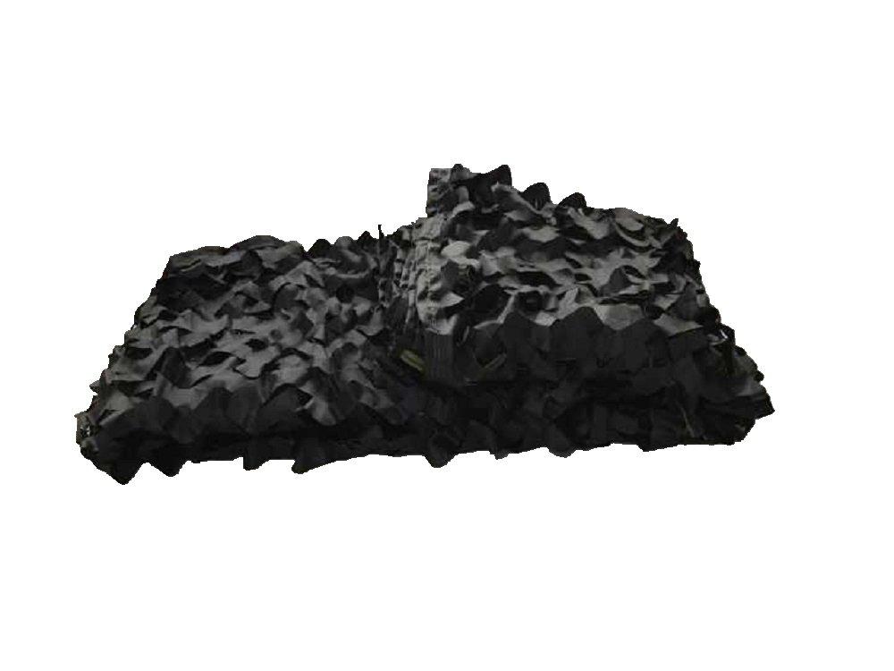 Hotour Camuflaje Negro Rojo de Camuflaje Redes de Camuflaje de del ejército Militar para Caza Camping de la persiana (tamaño personalización), Negro b0c557