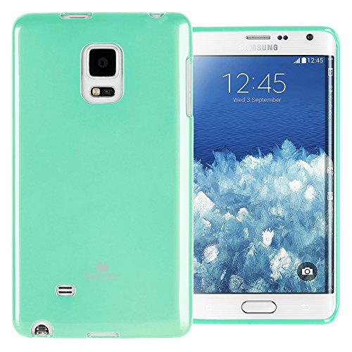 GOOSPERY Marlang Marlang Galaxy Note 4 Edge Case - Mint Green, Free Screen Protector [Slim Fit] TPU Case [Flexible] Pearl Jelly [Protection] Bumper Cover for Galaxy Note4Edge, NT4E-JEL/SP-MNT (Samsung Note Edge Case)