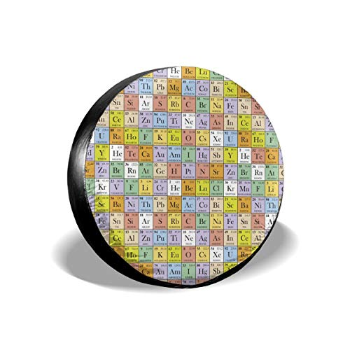 - LeYue Colored Squares Periodic Table Dust-Proof Sunscreen Waterproof Car Spare Tire Cover Multi-Size 14