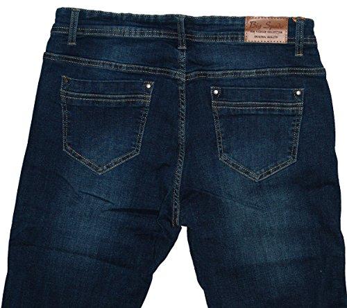 Big Straight Jeans Used Dunkelblau darkblue Donna r5rnOxq