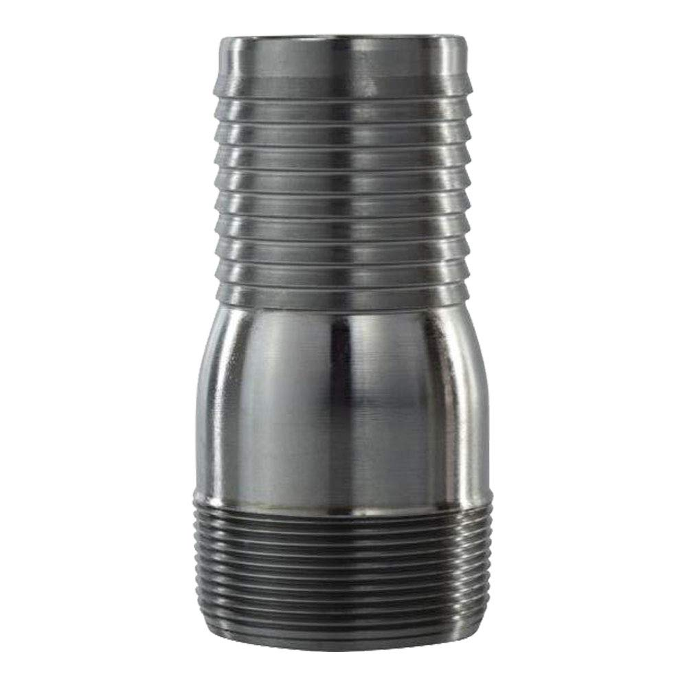 Pipe King 3 Suction and Lay Flat Round Hole Steel Strainer and Combination Hose Nipple Set