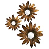 Howard Elliott Collection 13314 Set of 3 Fleur Mirrors, Copper
