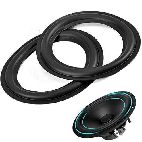 2pcs 6 inch / 156mm Perforated Rubber Speaker Foam Edge Surround Rings Replacement Parts for Speaker Repair or DIY (Repair Foam)