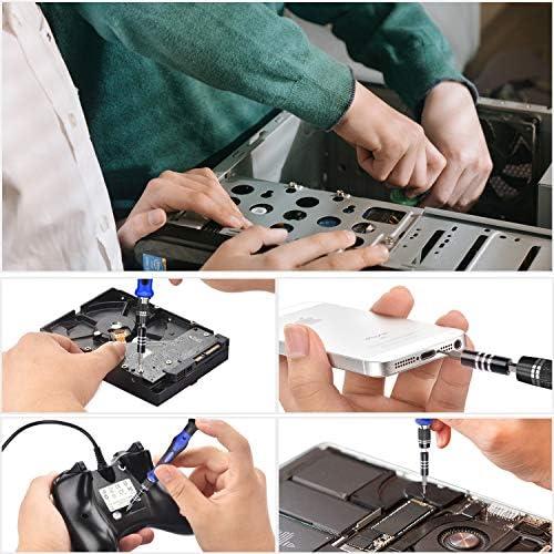 80 IN 1 Professional Computer Repair Tool Kit, Precision Laptop Screwdriver Set, with 56 Bit, Anti-Static Wrist and 24 Repair Tools, Suitable for Macbook, PC, Tablet, PS4, Xbox Controller Repair 51eCluQg fL