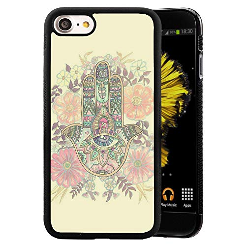 Bolostin Cases for iPhone 7 8 with TPU and Hard Shell Silicone All Edges Shockproof Fashion Pattern Soft Rubber Protection Case Cover Hamas Hand iPhone 7 8 Case