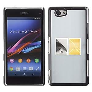 Shell-Star Art & Design plastique dur Coque de protection rigide pour Cas Case pour Sony Xperia Z1 Compact / Z1 Mini / D5503 ( House Window Deep Minimalist )