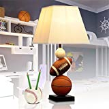HOMEE Ideal reading light-- american basketball creative personality cute boy study bedroom bed children's room table lamp --desk and bedside lighting,Button Switch