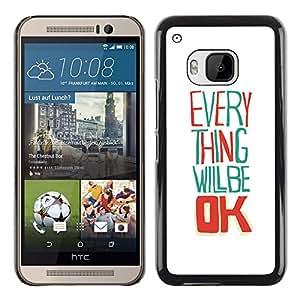 iBinBang / Funda Carcasa Cover Skin Case - Todo va a estar bien blanca feliz - HTC One M9